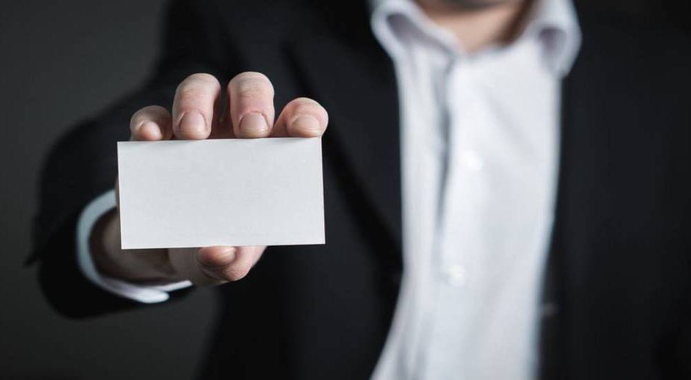 Always leave a business card